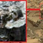 Un cap de statuie anunnaki descoperit pe Marte