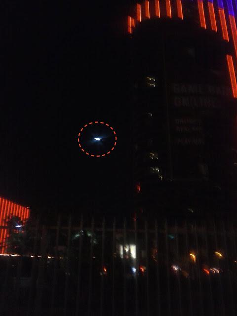 OZN în noapte la Las Vegas