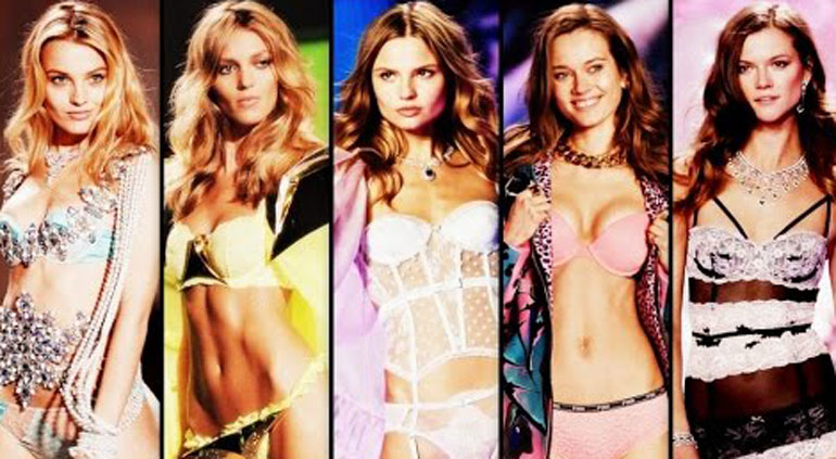Sursă foto Youtube, Polish models at Victoria's Secret fashion.