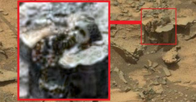 marte cap de statuie anunnaki descoperit pe Marte