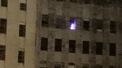 Fantoma a apărut la o fereastră după trecerea uraganului Katrina