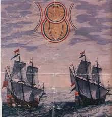 Un foc strălucitor şi arzător superb în 1067, în Marea Mânecii